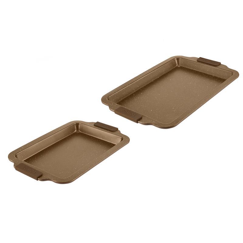 Cerastone 2 Piece Baking Tray Set Gold