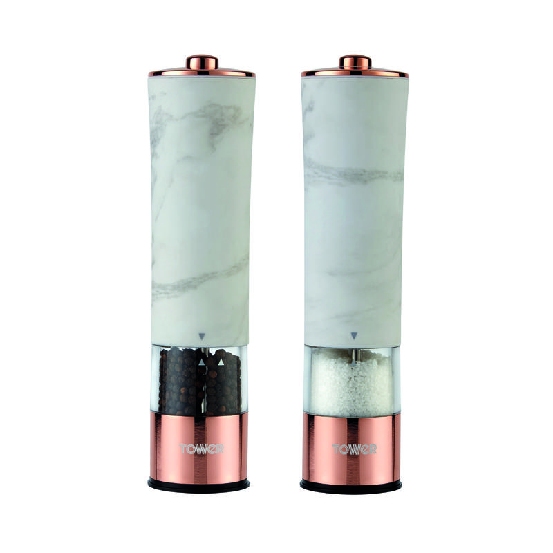 Marble Rose Gold Electric Salt/Pepper Mill