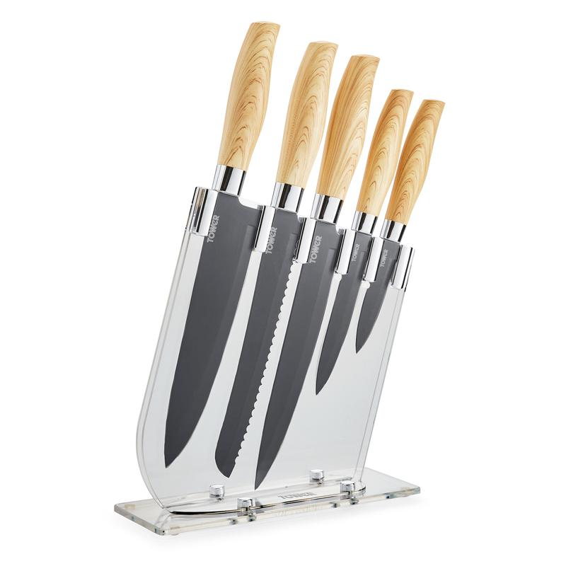 Scandi 5 Piece Knife Block