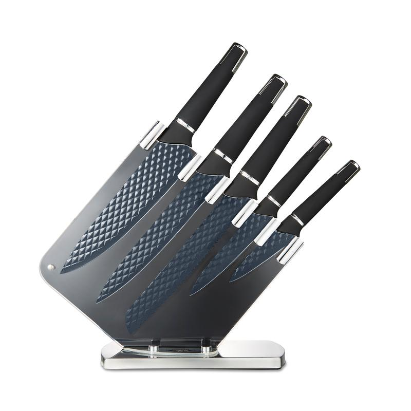 Precision 5 Piece Knife Block Black
