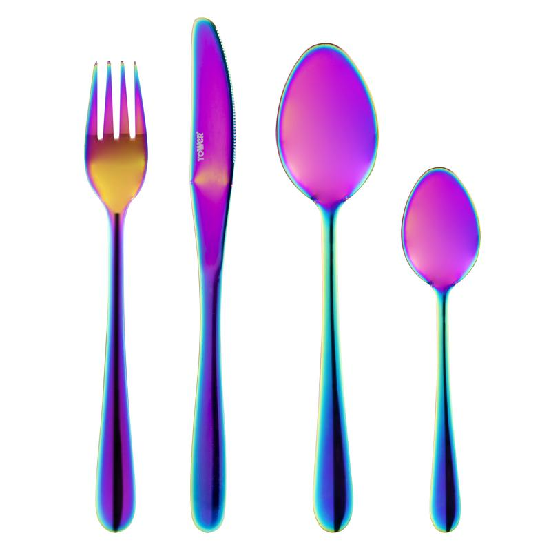 Iridescent 16 Piece S/Steel Cutlery Set