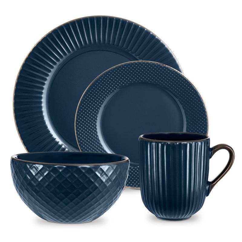 Empire 16 Piece Dinnerware Set Midnight Blue