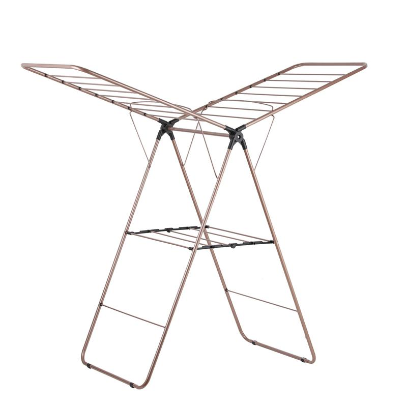 Rose Gold Winged Airer Black