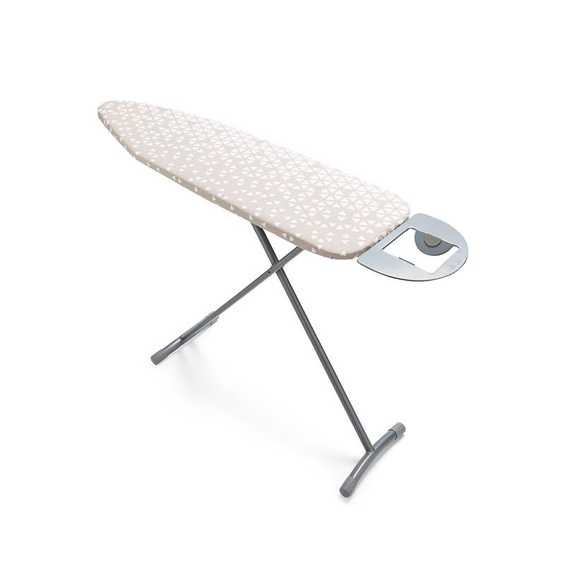 Small Ironing Board Silver with Geo Cover