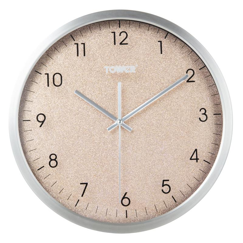 Glitz 30cm Wall Clock Blush