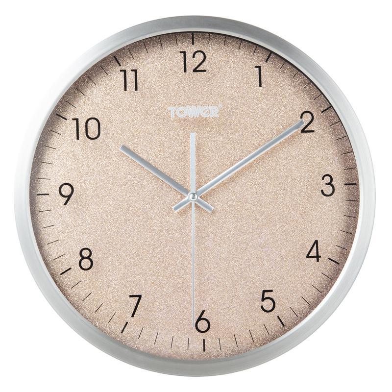 Glitz 30cm Wall Clock Blush