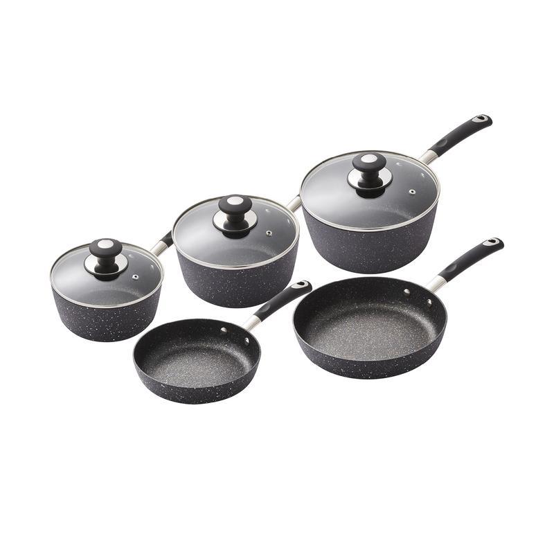 Precision 5 Piece Non-Stick Pan Set Black
